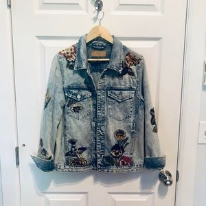 Blank NYC Denim Embroidered Denim Jacket